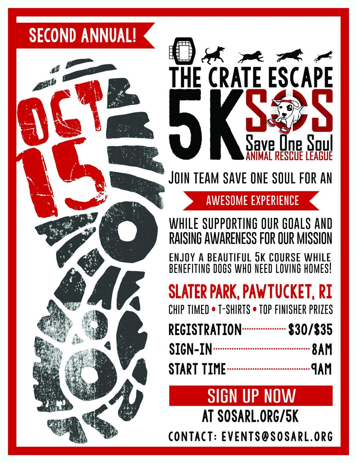 Crate Escape 5K Flyer
