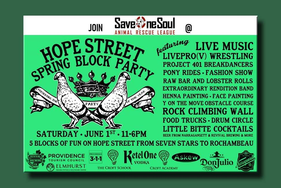 SOS at the HOPE STREET SPRING BLOCK PARTY! @ Hope Street - Providence